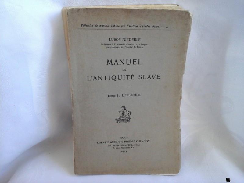 Manuel lantiquite slave Lubor Niederle