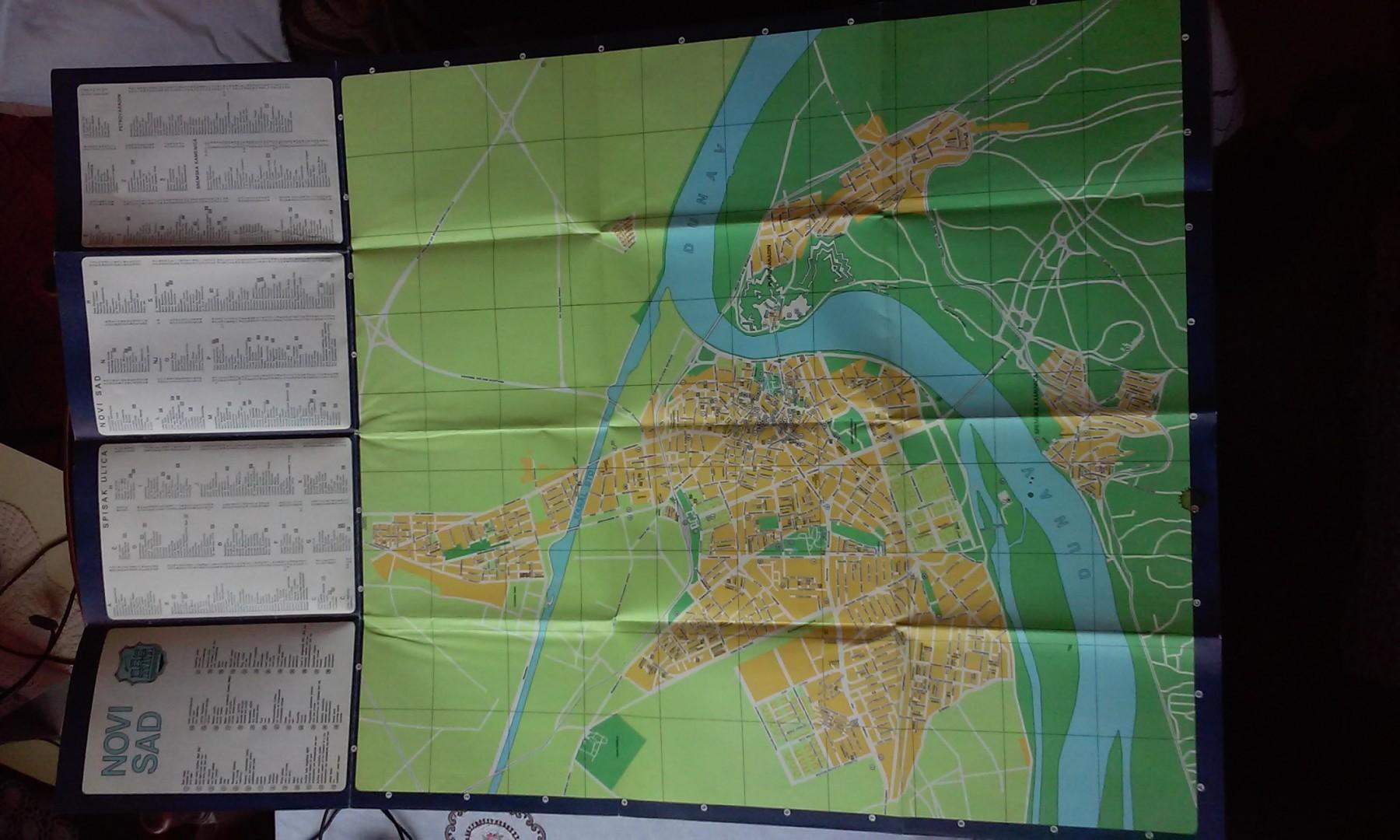 Mapa Novog Sada Iz 1980 Godine Kupindo Com 30980101