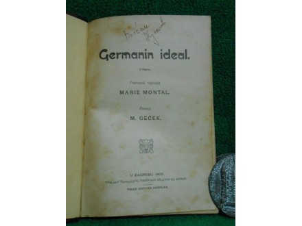 Marie Montal, Germanin ideal. Preveo M. Geček 1905.g