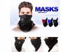 Maska za skijase motoriste crna
