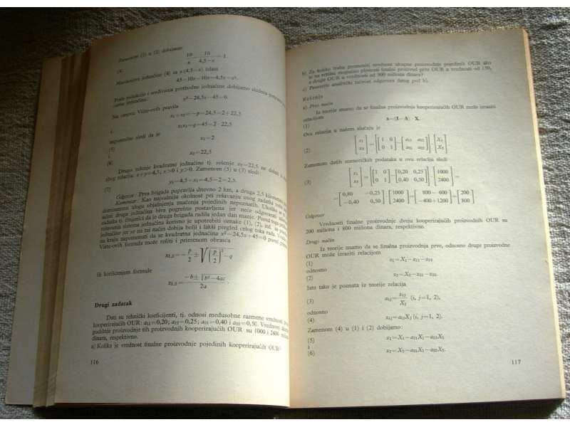 Matematičke metode (u ekonomiji) 2 - Dr B. Kovač
