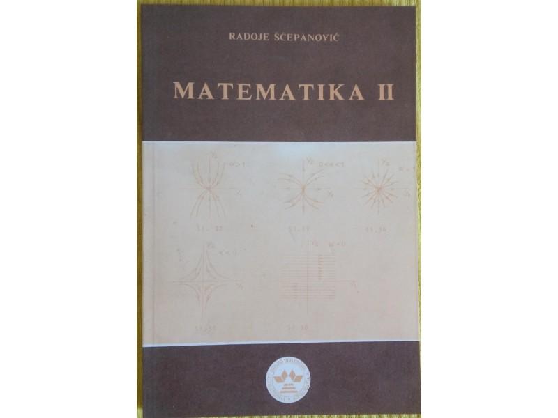 Matematika II  Radoje Šćepanović