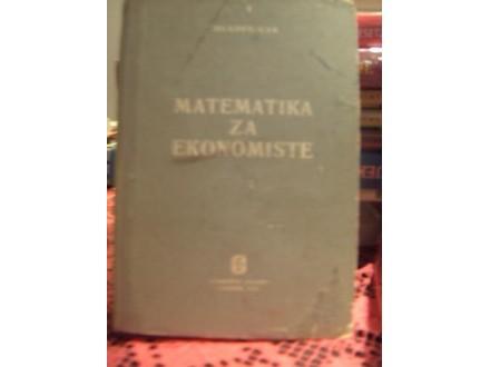 Matematika za ekonomiste- Mladen Car
