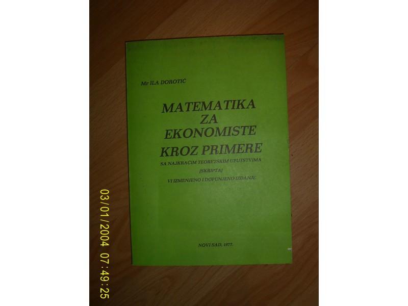 Matematika za ekonomiste kroz primere