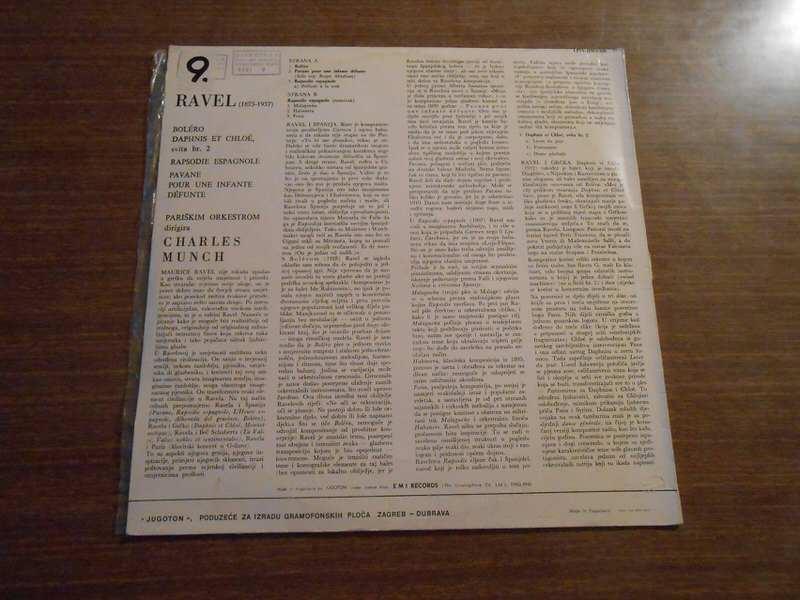 Maurice Ravel, Charles Munch, Paris Orchestra, The - Bolero / Daphins Et Chloe -- Suite No. 2 / Pavane Pour Une Infante Defunte