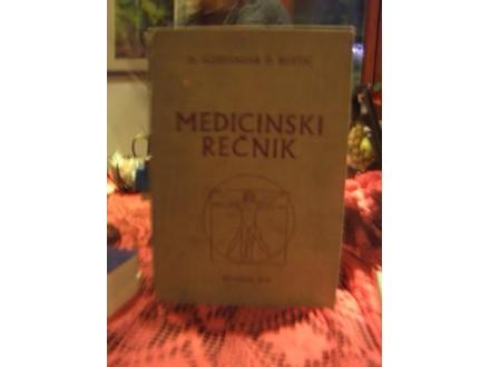 Medicinski rečnik, dr Aleksandar Kostić