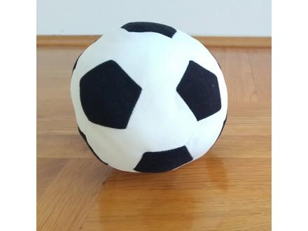 Mekana lopta, precnik 13cm. Crno bela. NOVO