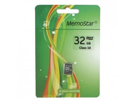 MemoStar kartica MICRO SD 32gb klasa 10-Racun,Gar.list