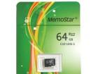 MemoStar kartica MICRO SD 64gb klasa 10-Racun,Gar.list