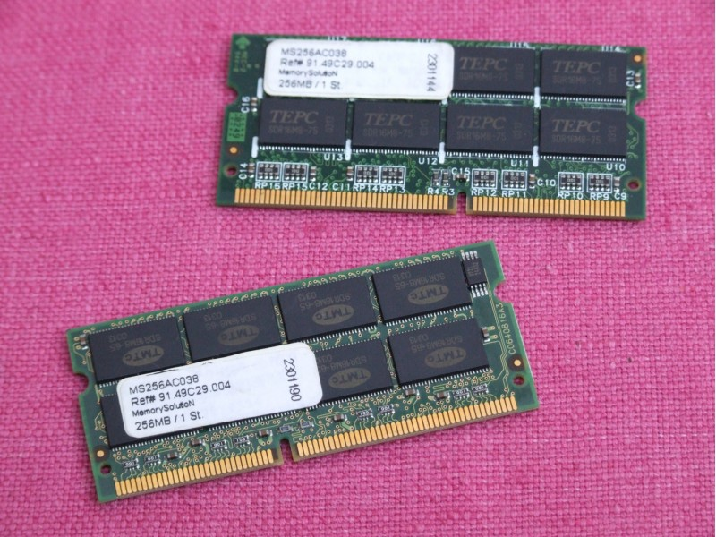 Memory Solution 2 x 256MB SDRAM memorije + GARANCIJA!