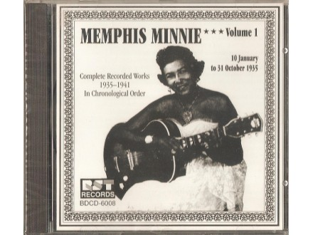 Memphis Minnie - Complete Recorded Works In Chronological Order - Volume 1 - 10 January To 31 October 1935