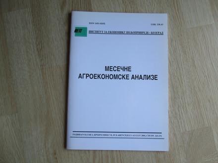 Mesecne agroekonomske analize juli -avgust 2004