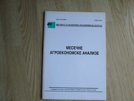 Mesecne agroekonomske analize jun 2004