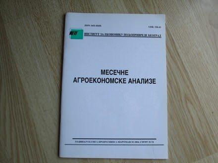 Mesecne agroekonomske analize mart  2004