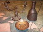 Mesingani svećnjak, piksla i bakarni ibrik