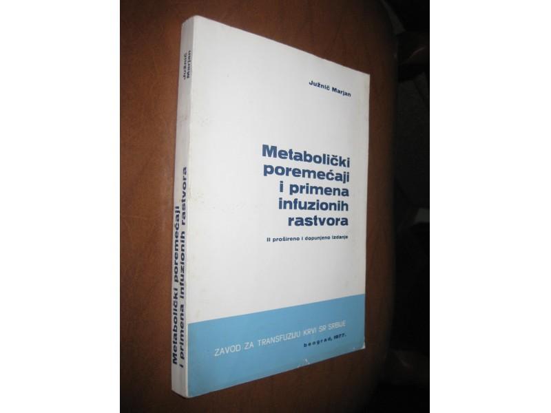 Metabolički poremećaji i primena infuzionih rastvora