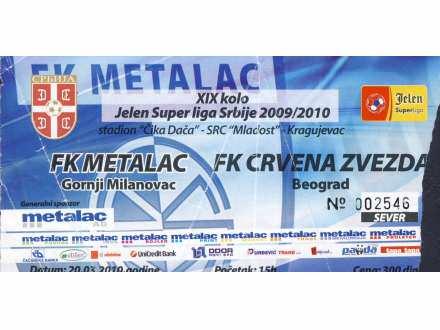 Metalac - Crvena Zvezda   ,   2010.god.