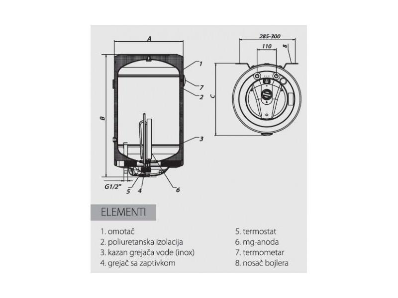 Metalac bojler MB P50 RFI