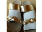 Metalik-zlatne zenske papuce br 41-NOVE