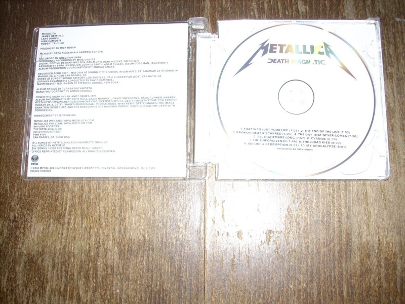 Metallica - Death Magnetic CD Vertigo 2008. Super Jewel