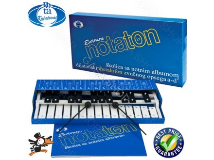 Metalofon - notaton dvoredni Nota 25-S - Akcija
