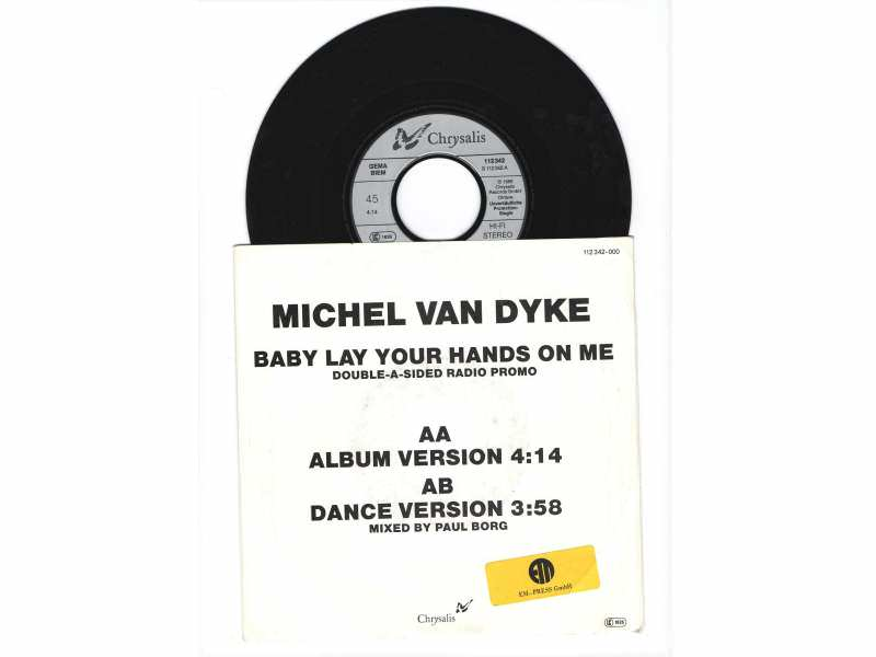 Michel Van Dyke - BABY LAY YOUR HANDS ON ME(DOUBLE - A-SIDED RADIO PROMO)
