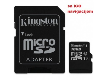Micro SD Kingston 16GB sa iGO navigacijom-nova