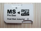 Micro SD to MS Pro Duo Card Dual Slot