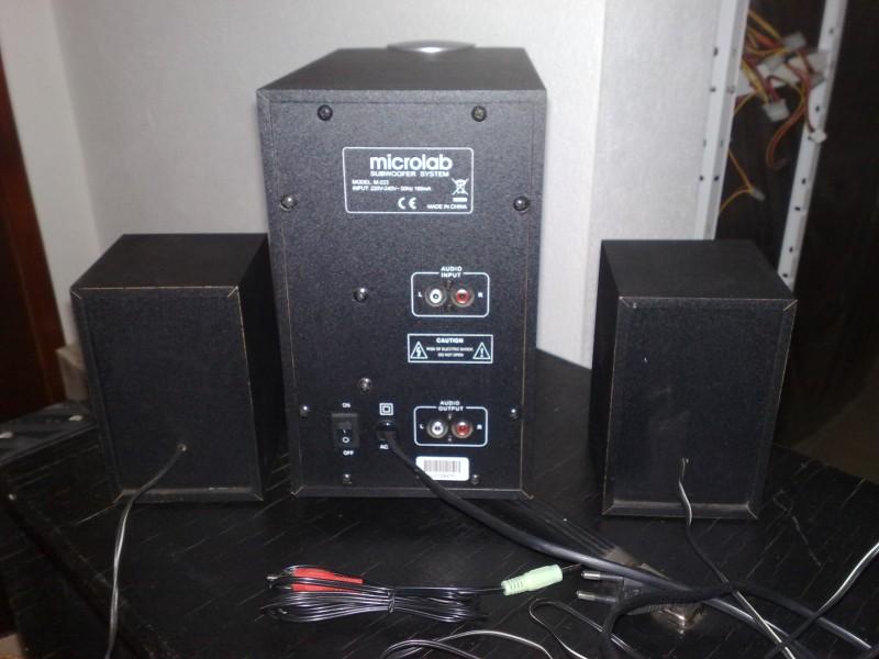 Microlab 223 M zvucnici 2.1 drveni