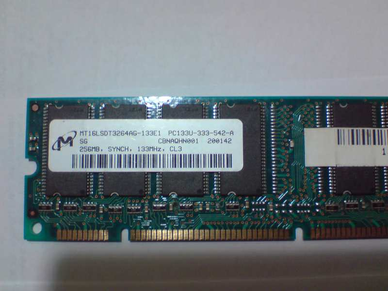 Micron Technology SDRAM 256mb pc-133