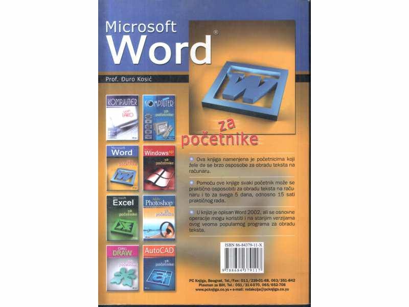 Mikrosoft Word za početnike  - Đuro Kosić