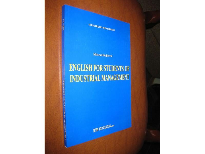 Milorad Stojilović - English for Students of Industrial Management