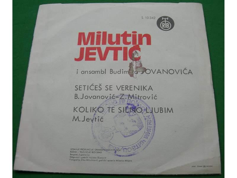 Milutin Jevtić - Setićeš se verenika / Koliko te silno ljubim