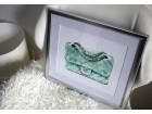 Mint zelena torbica, dekoracija, umetnički print