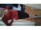 Mis scarlet bordo crna punija haljina br 38