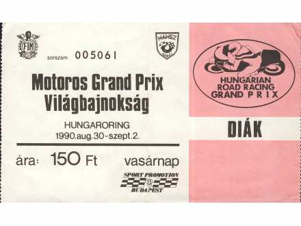 Motoros Grand Prix   ,   Hungaroring   ,   1990.god.