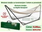 Mrežasta ležaljka -jača sa sklopivim postoljem i torbom