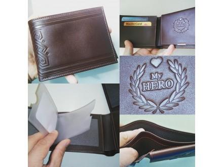 Muški novčanik od prirodne kože, ručni rad, artikal 307