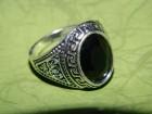 Muški prsten od crnog oniksa prečnika 19 mm