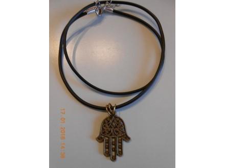 Muško-ženska ogrlica Fatimina ruka