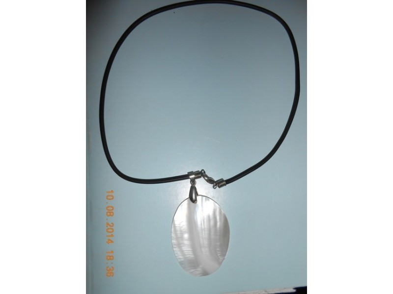 Muško-ženska ogrlica beli sedef