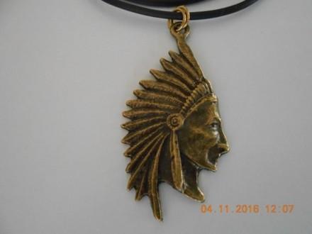 Muško-ženska ogrlica indijanac, poglavica