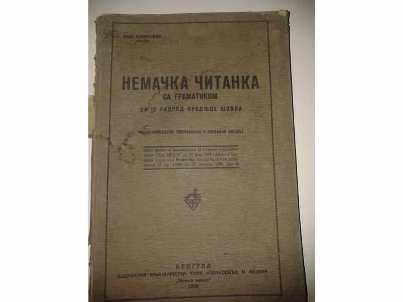 NEMAČKA ČITANKA - 1938 GODINA