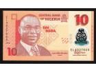 NIGERIJA 10 naira (2016)  UNC  POLIMER