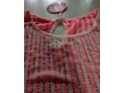 NOVA Roze prugasta bluza od tila sa sjajnim strasom