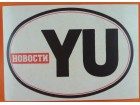 Nalepnica YU (Jugoslavija) Novosti