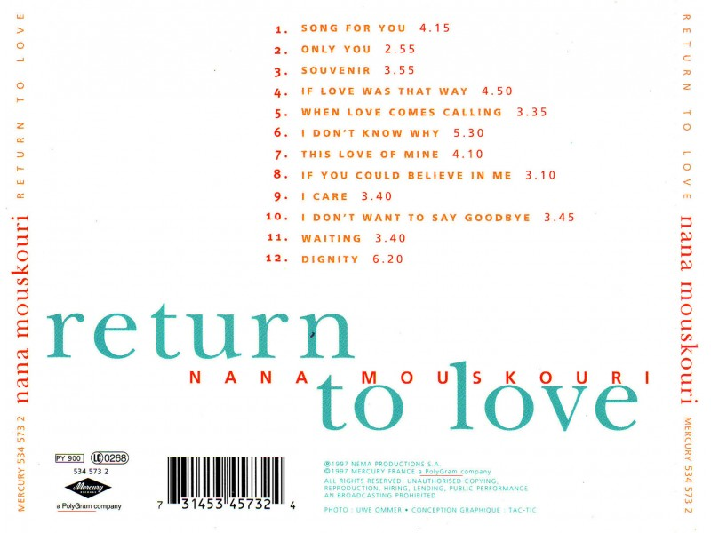 Nana Mouskouri - Return To Love