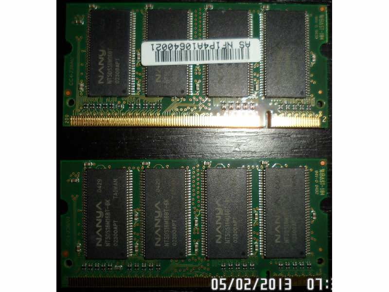Nanya 2x256MB DDR 333MHZ CL 2.5 SO-DIMM