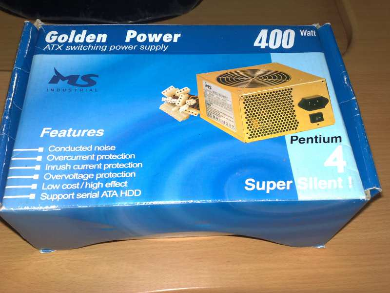 Napajanje Msi Golden Power 400 W!