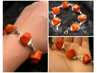 Narukvica,narandzasti kamen